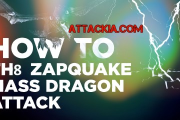 ZapQuake Dragon Attack Strategy TH8 Clash of Clans