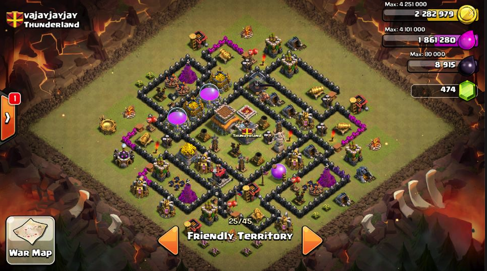 Anti Star Hog Rider TH8 Base