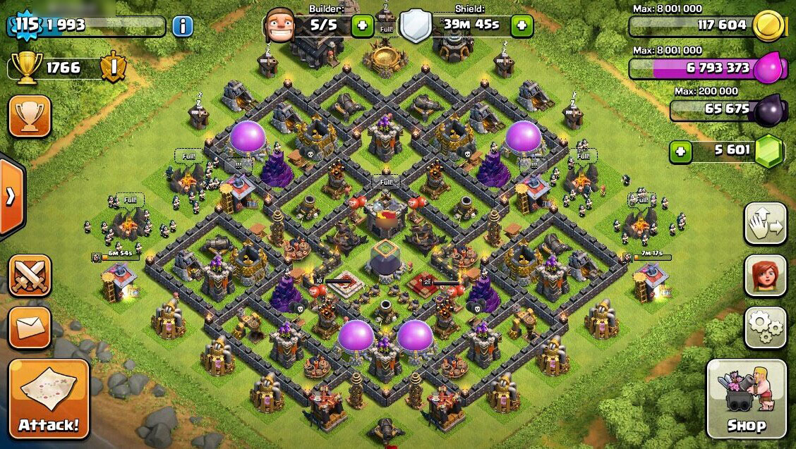 Best Th9 Farming Base 2016