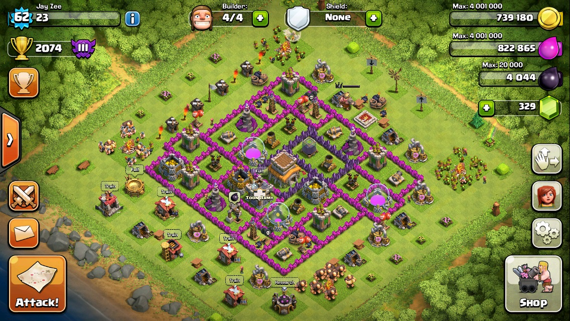 COC Town Hall 8 Crystal League
