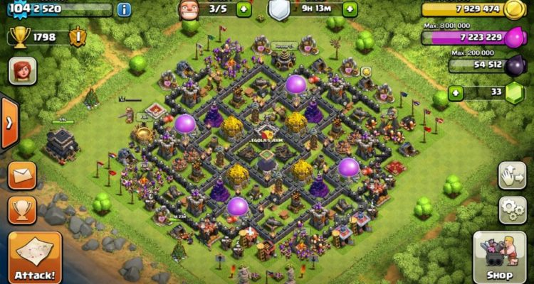 Clash of Clans Th9 Farming Base
