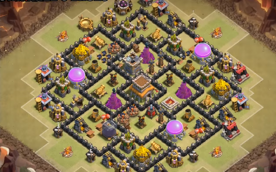 Clash of Clans Town Hall 8 Setup