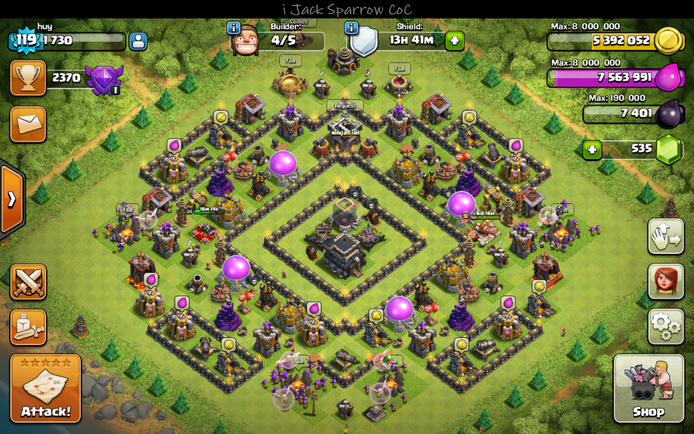 Clash of Clans Town Hall 9 Hybrid Base