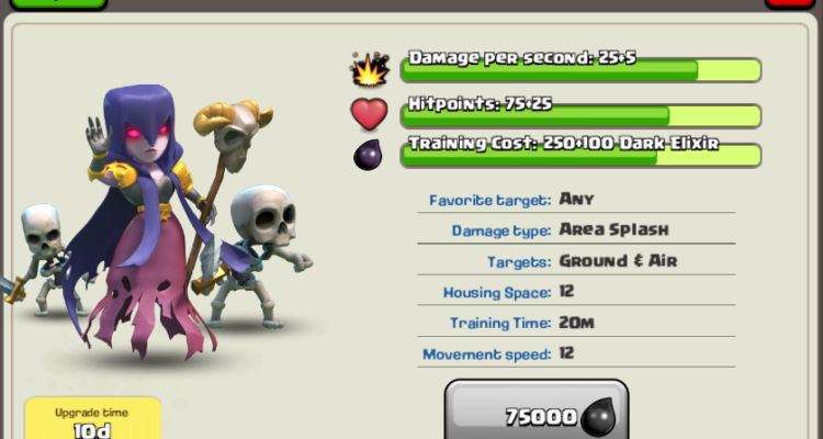 Dark Elixir Troop Witch