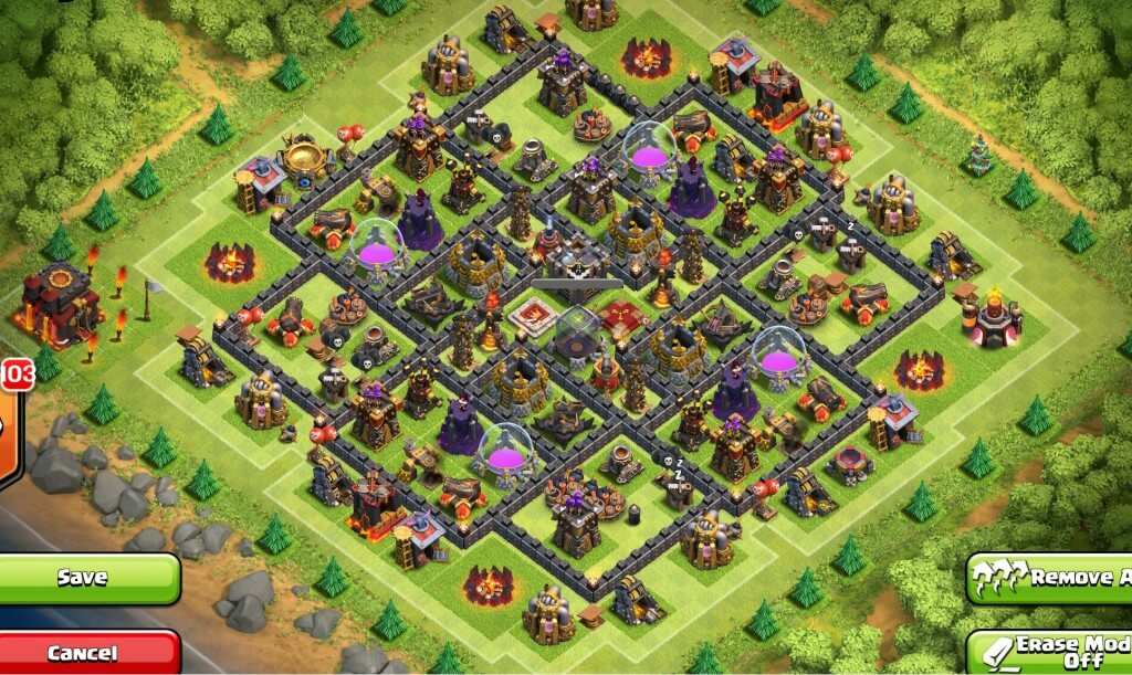Town Hall 10 Farming & Trophy Base