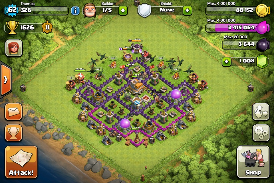 Town Hall 7 Hybrid Base Clash of Clans