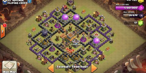 Town Hall 8 Anti Hog Base