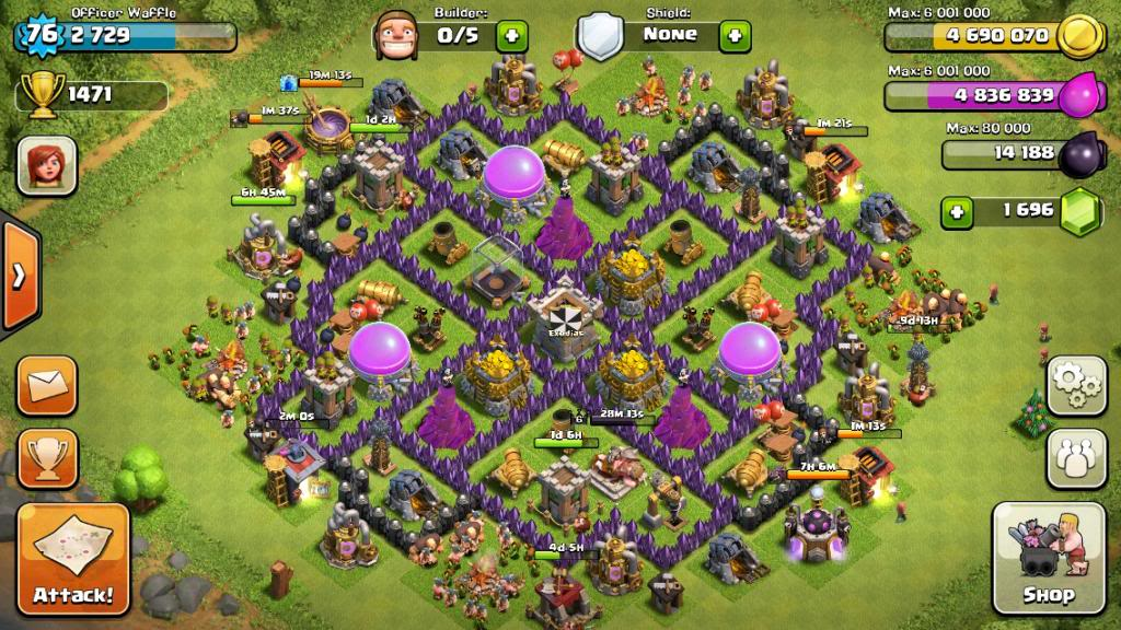 Town Hall 8 Farming and Trophy Base