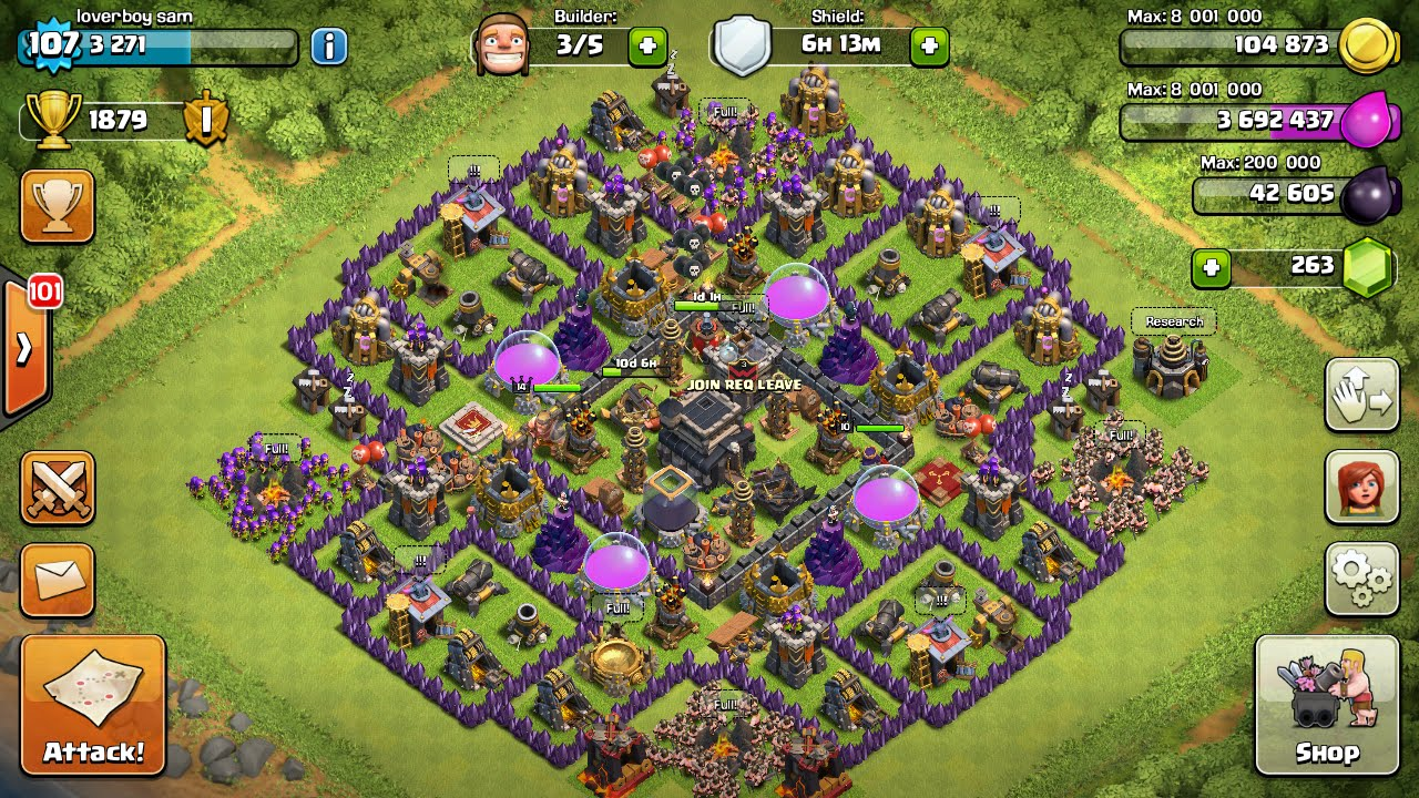 Town Hall 9 Farming and Trophy Base