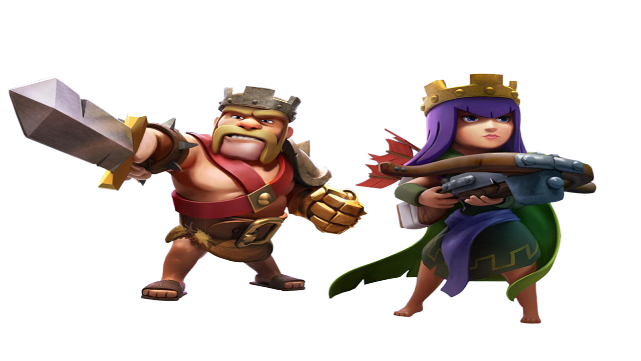 Clash Of Clans Barbarian King And Archer Queen Www