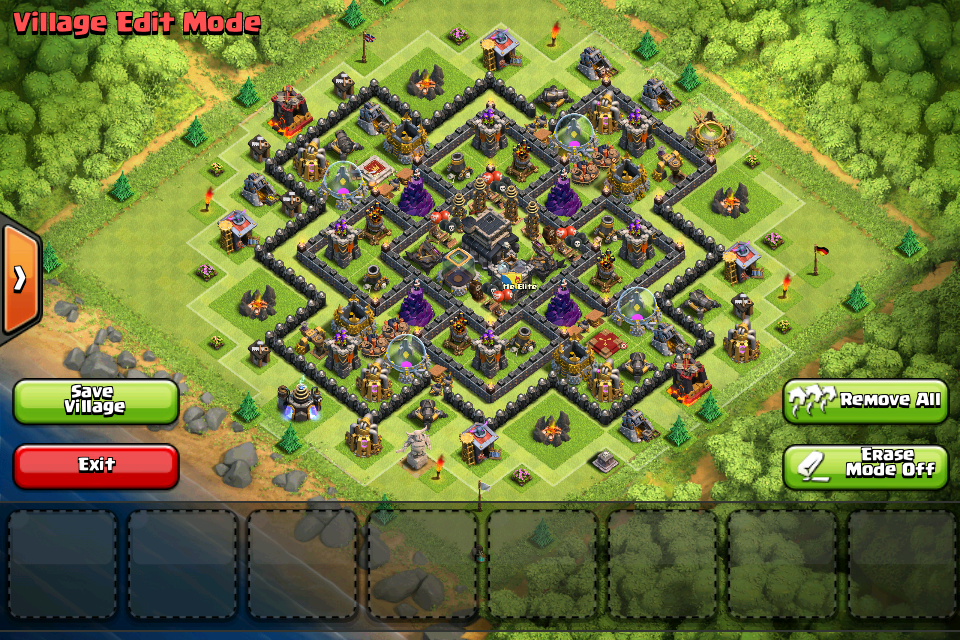 best th9 trophy base champion league