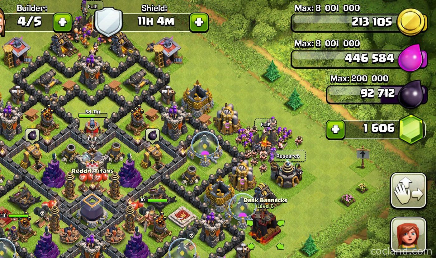 clash of clans witch level 3