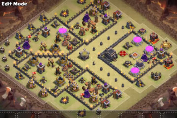 Town Hall 9 Anti 3 War Base