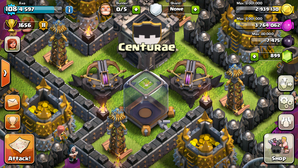 clash of clans xbow air or ground