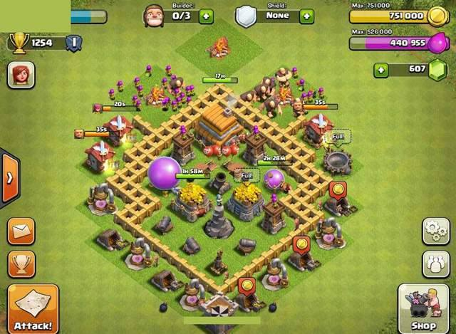 Clash of Clans Farming Base TH5