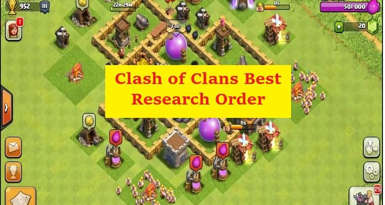 Clash of Clans Best Research Order