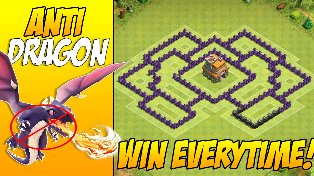Anti Dragons Th7 Town Hall 7 War Base Layout With 3 Air Defenses