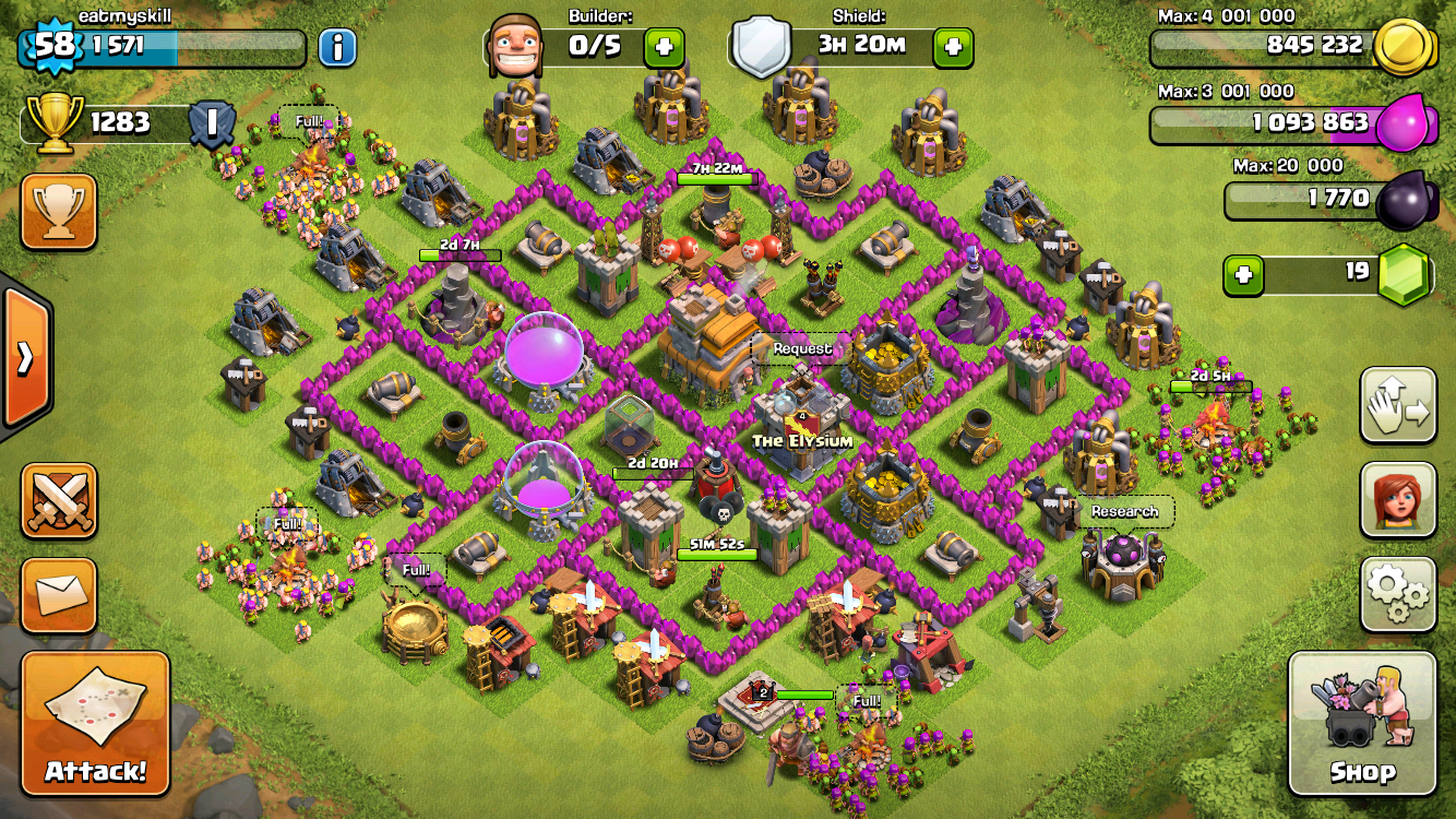 COC Town Hall 7 Hybrid Base