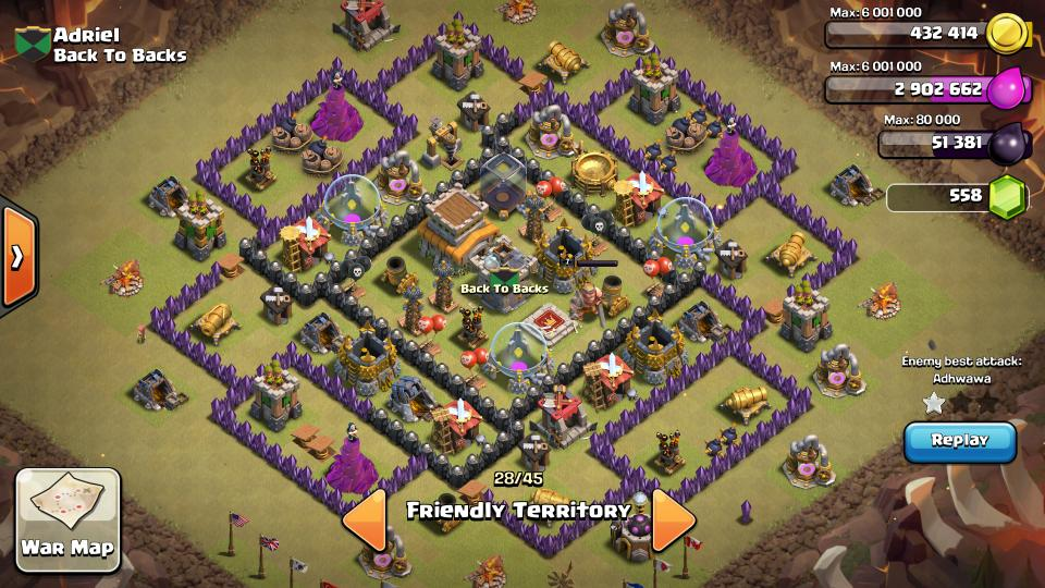 COC Town Hall 8 Anti Hog Base