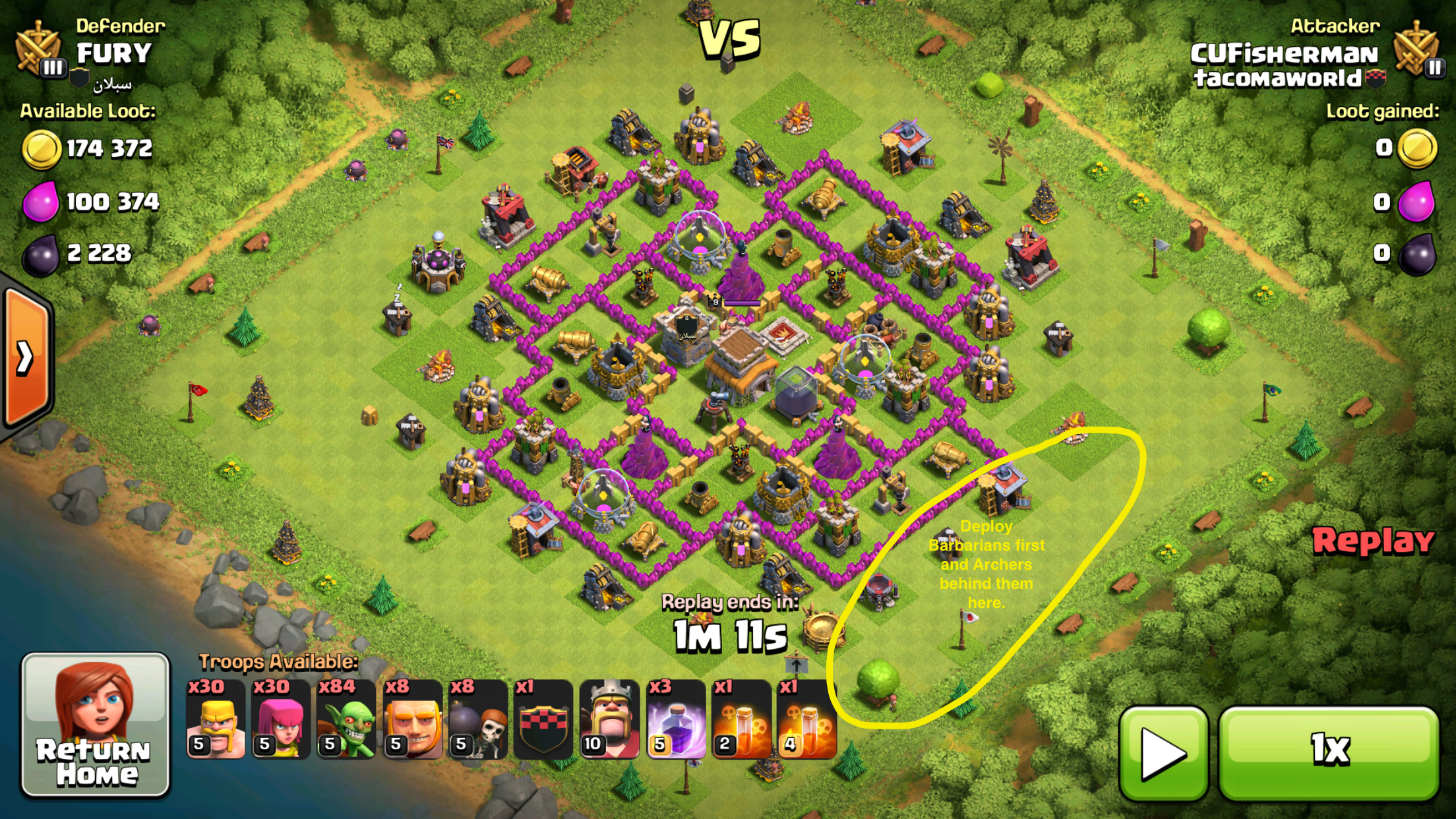 COC Town Hall 8 Army Composition