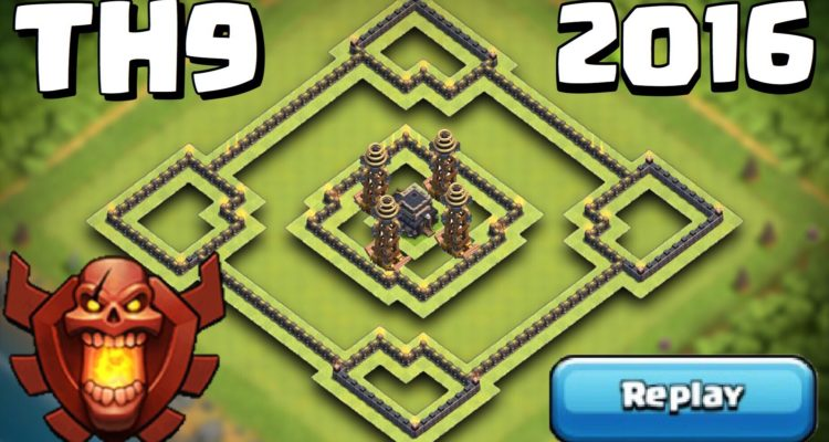 Clash of Clans TH9 Trophy Base