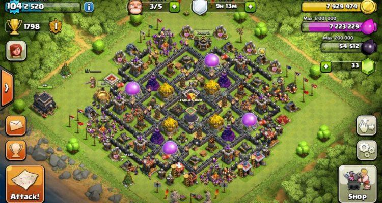 Unbeatable Coc Th9 Farming Base 4