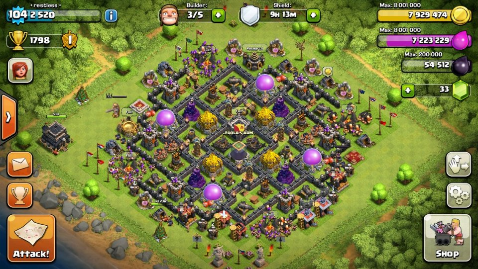 Best Clash Of Clans Th9 Farming Base Attackia Clash Of