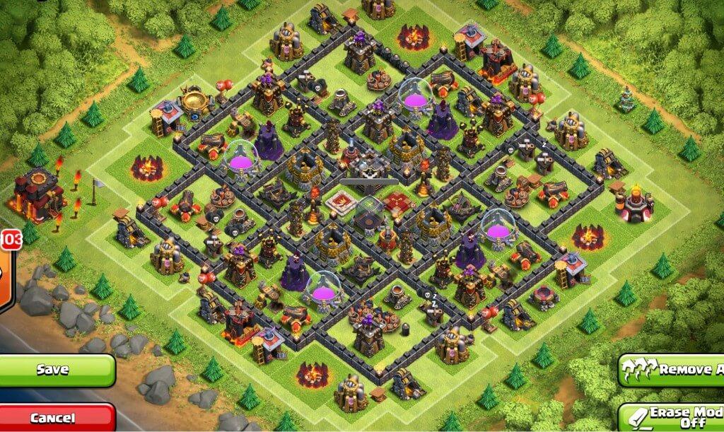 Town Hall 10 Farming & Trophy Base