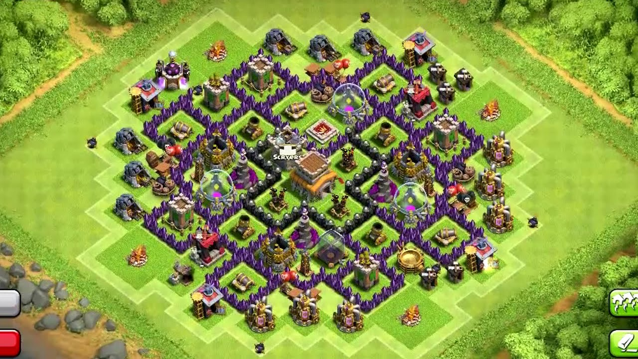 Town Hall 8 Hybrid Base Clash of Clans