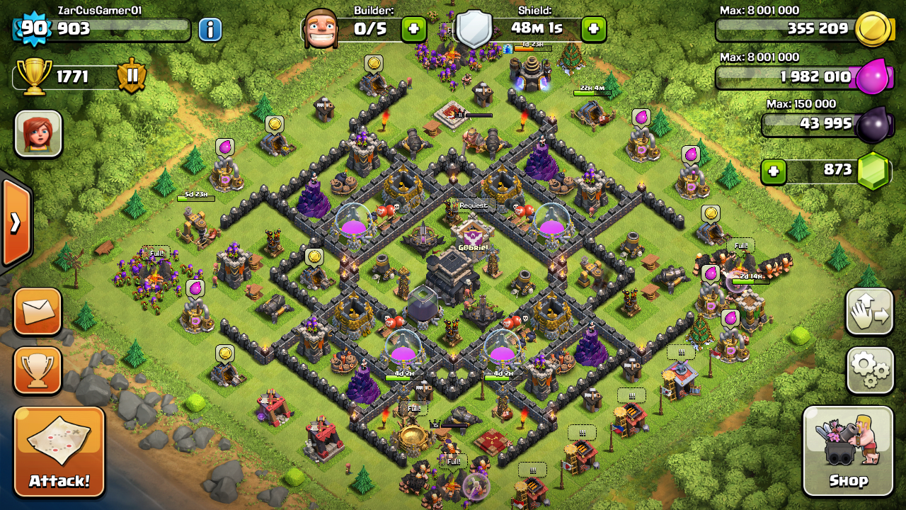 Town Hall 9 Hybrid Base Clash of Clans