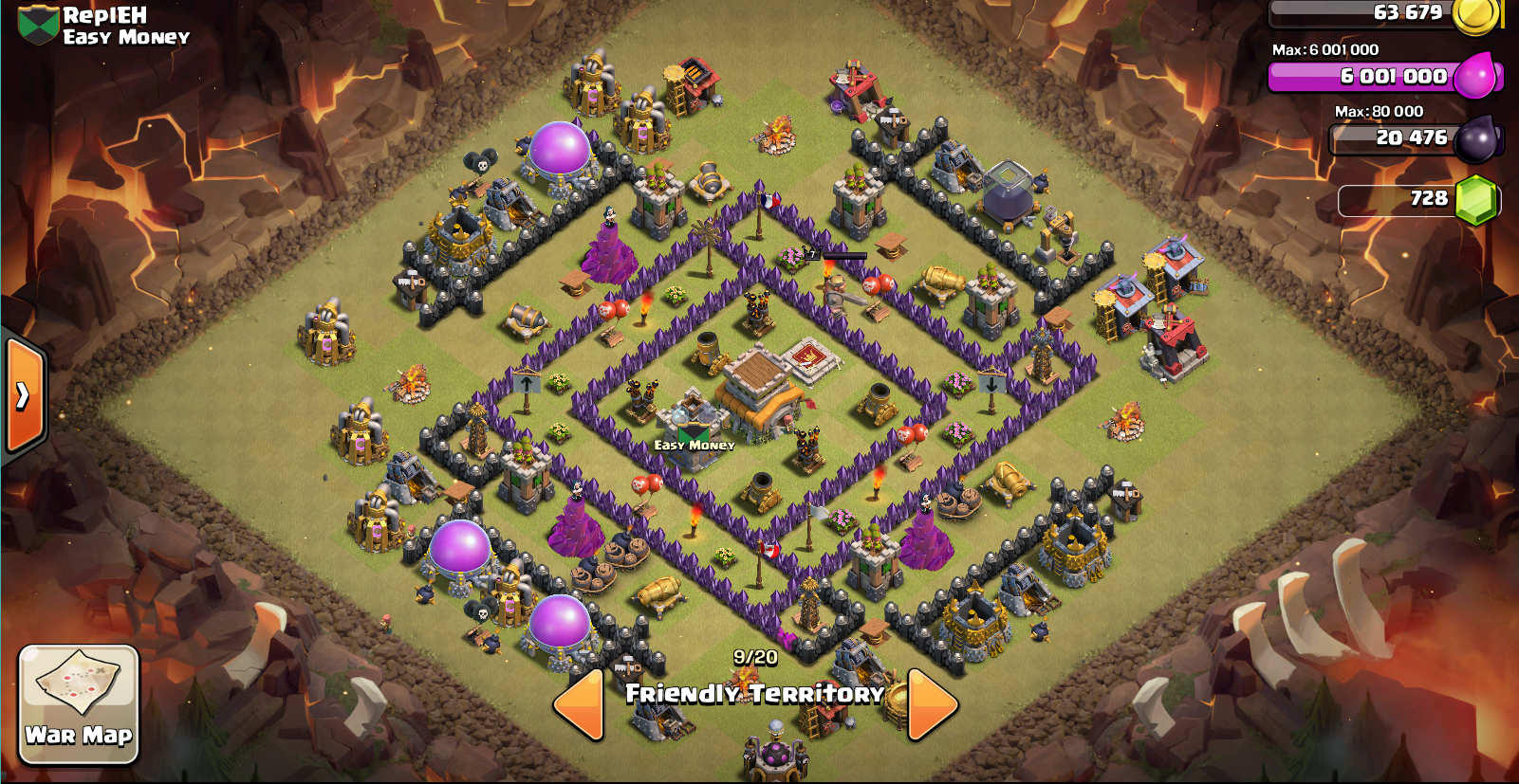 ZapQuake Dragon troop composition Town Hall 8