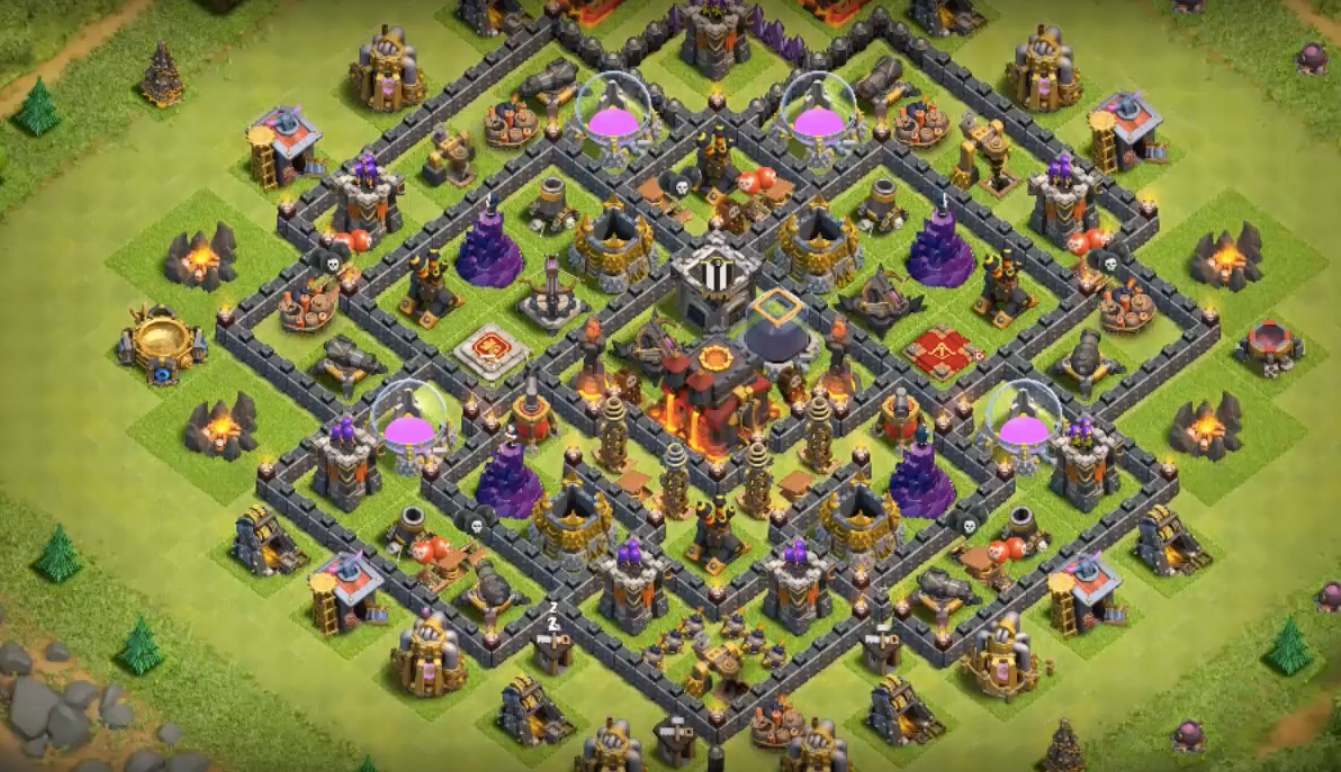 th10 war base with bomb tower