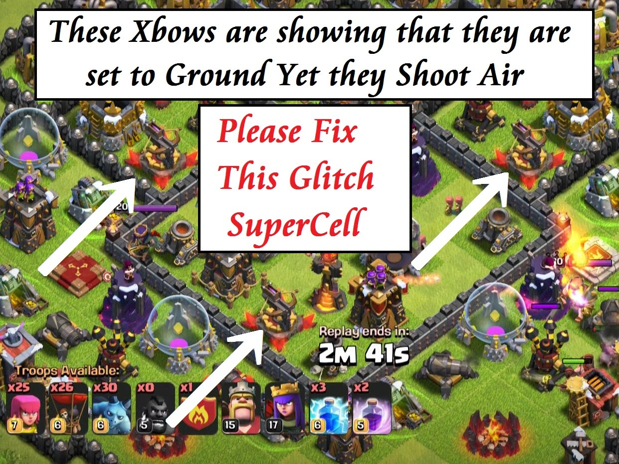 xbow clash of clans glitches
