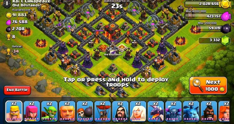 clash of clans attack strategies loot