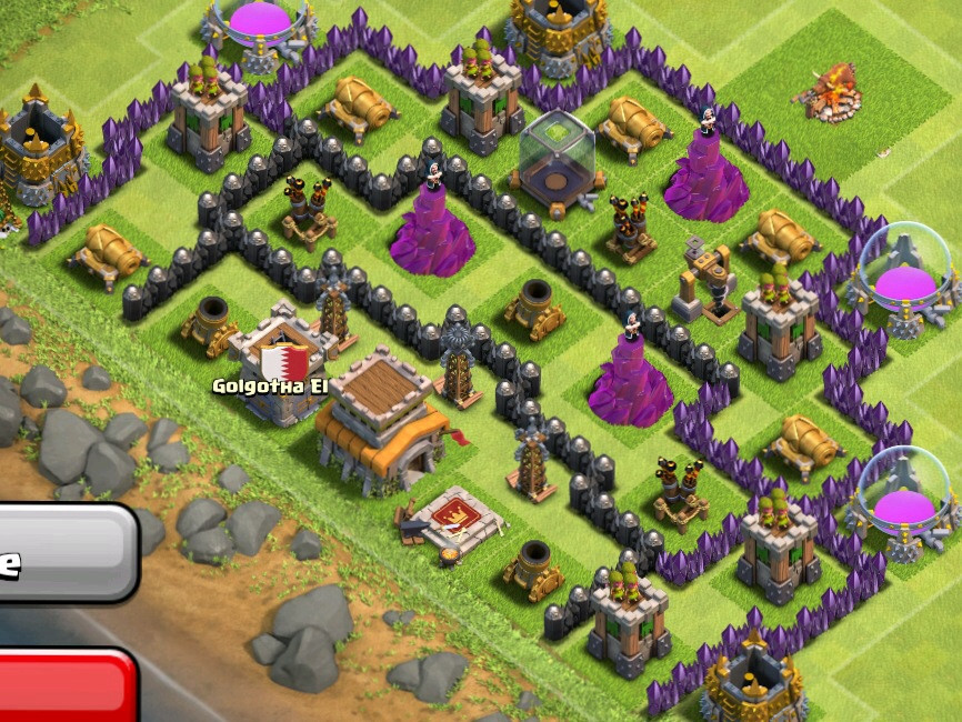 how to make a good base in clash of clans town hall level 4