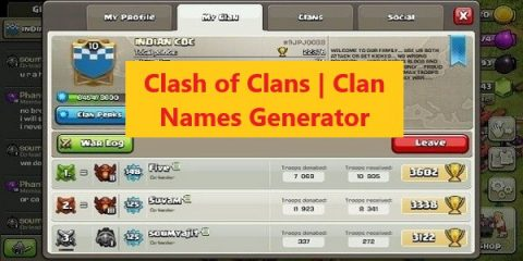 Clash of Clans Clan Names Generator