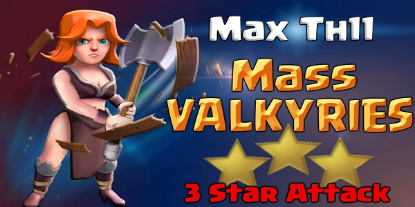 Clash of Clans Valkyrie Attack