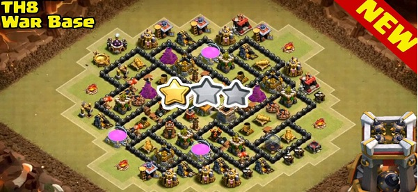 Clash of Clans Townhall 8 War base