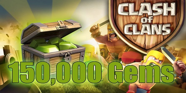 COC Gems Giveaways